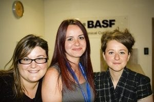 Meet BASF Bradford's Newly Placed Bilingual Customer Service Staff (L to R) Claire Launey, Maria Estrada, Anna Rogge